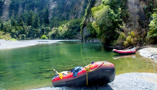 Full Day Scenic Rafting On The Rangitikei River, New Zealand.  Family Friendly.