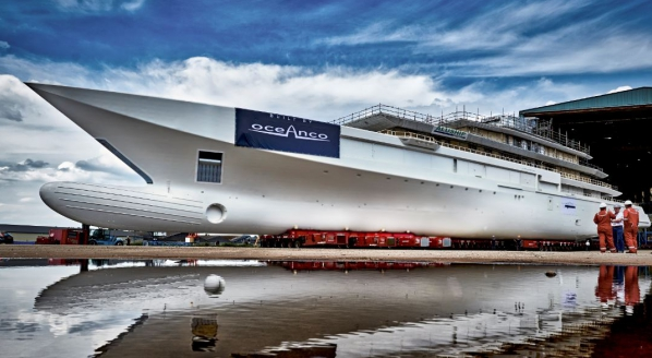 Oceanco's latest project enters outfitting stage