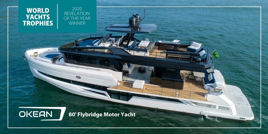 The Okean 80' Flybridge Motor Yacht Takes Home the Revelation of the Year Award at the 2020 World Yachts Trophies in Cannes