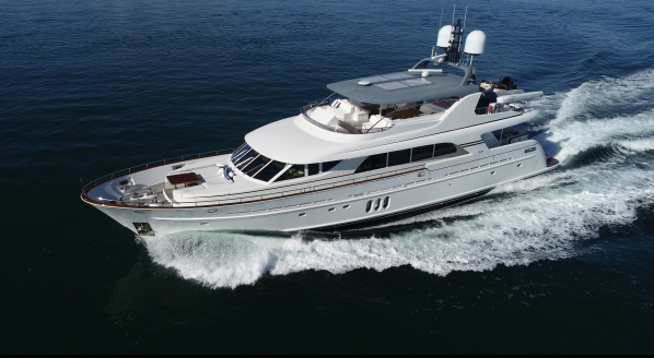 M/Y Mahalo listed for sale by West Nautical